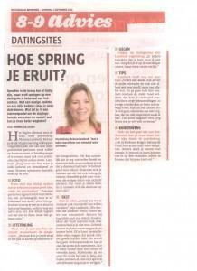 Artikel Internetdating Telegraaf 1-9-2012